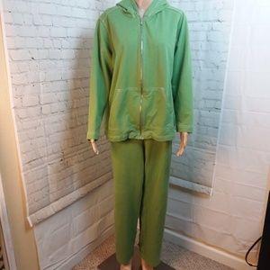 Jones New York Women's Green Activewear Set Sz 1X